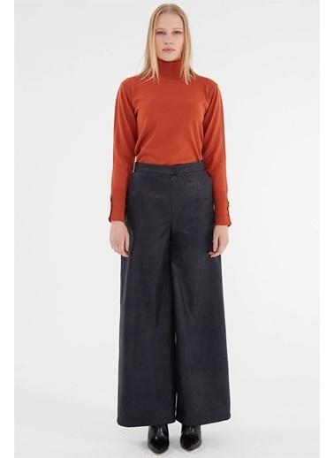 Vivencia Kadın Deri Pantolon  Lacivert